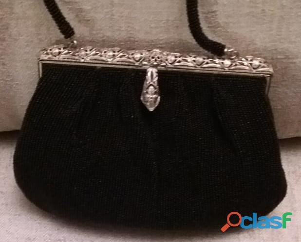 Antica borsetta dei primi del 900 Liberty con perline 1
