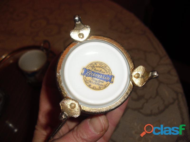 servizio caffe BAVARIA con vassoio e alzatine 4