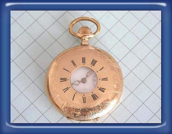 Antico orologio da tasca mi chronometre bornand oro 18k 0