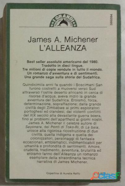 L'alleanza The Covenant di James A.Michener; 1°Ed.Bompiani, giugno 1983 perfetto 1