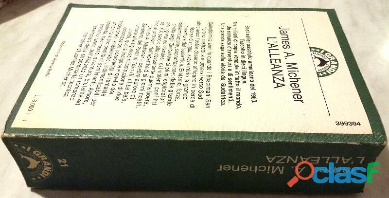 L'alleanza The Covenant di James A.Michener; 1°Ed.Bompiani, giugno 1983 perfetto 2