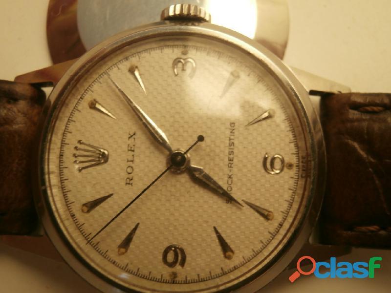 Orologio rolex precision vetro plastica anni 50 vintage