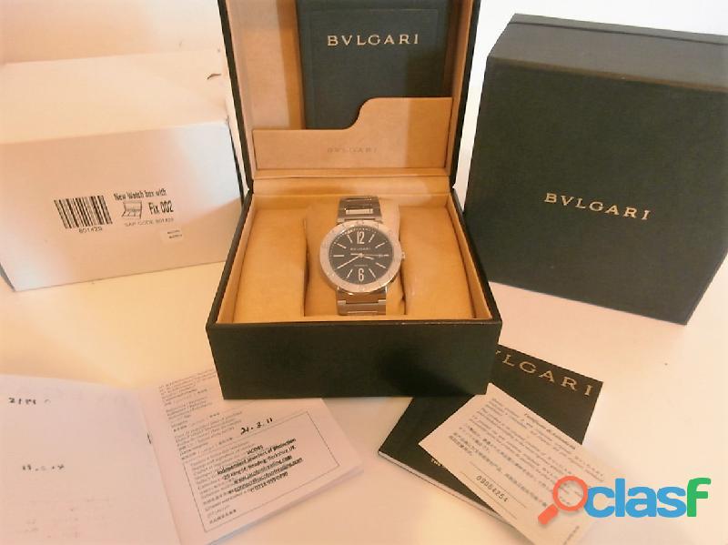 Orologio BULGARI Ref BB 42 SS AUTO del 2011 scatola documenti 1500 euro