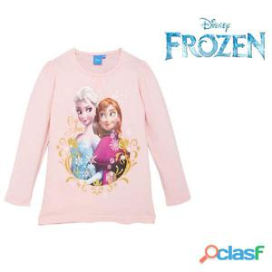 "Disney frozen maglia manica lunga langarmshirt rosa ""elsa  amp  anna"" da 3 a 45834c201e49"