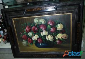"""Quadro """"fiori"""" ad olio"""