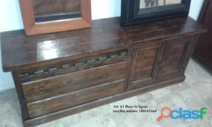 Base cantinetta legno vecchio