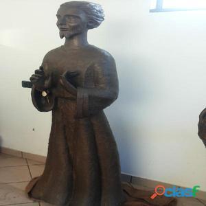 Statua religiosa di bronzo massiccio antica