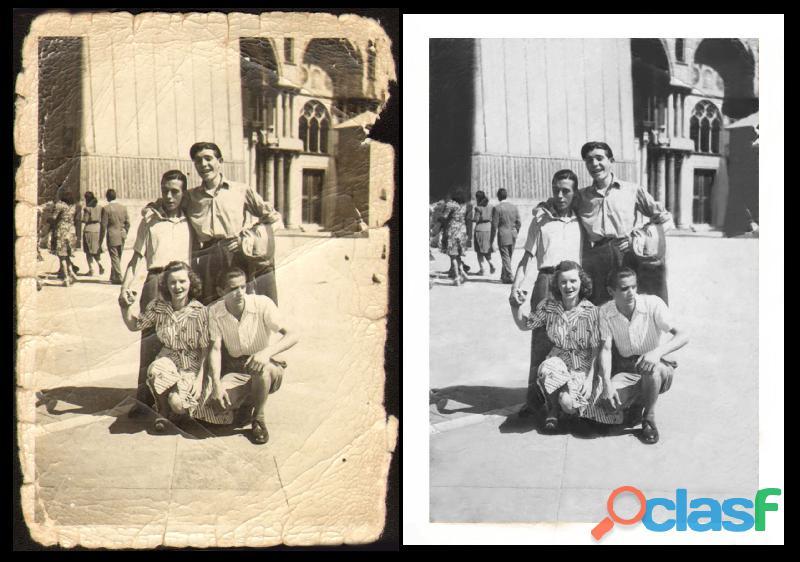 Restauro vecchie foto e diapositive