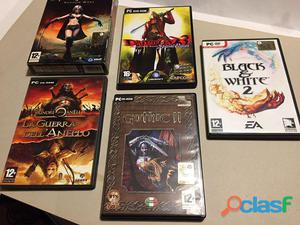Lotto 6 giochi cd rom per pc   originali