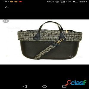BORS@ O BAG nera grande con tracolla