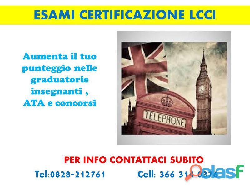 Esami certificazione inglese lcci