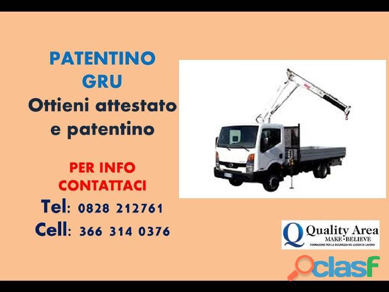 Patentino gru su camion a torre auto carro/gru (in tutta italia)
