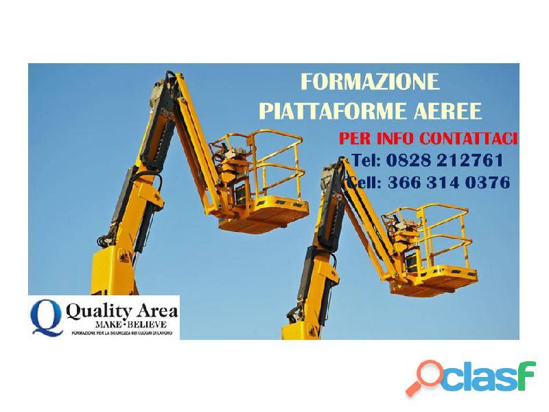 Patentino piattaforme aeree (in tutta italia)