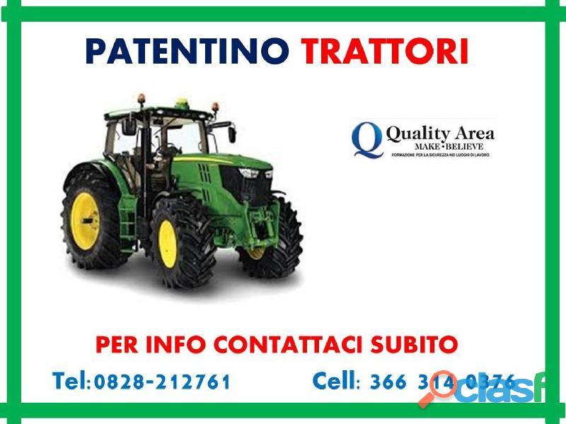 Patentino trattori agricoli e forestali ( in tutta italia )