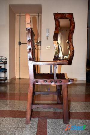 Tavolo e sedie stile spagnolo legno massello