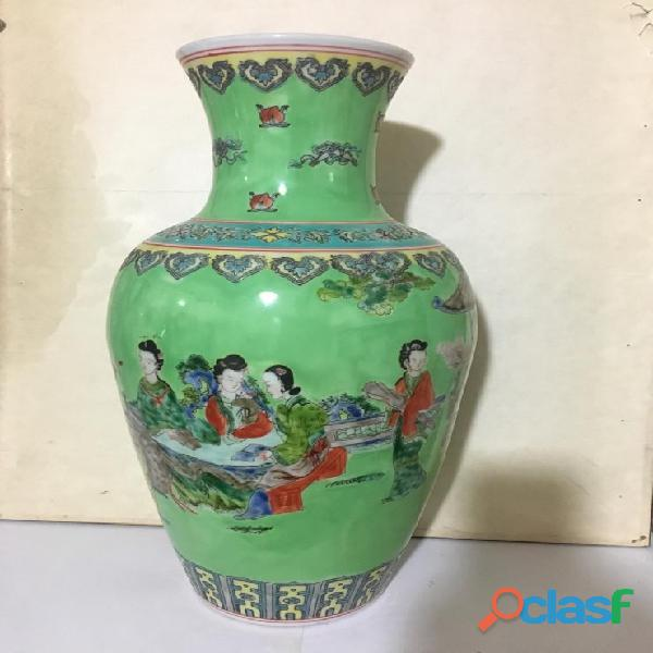 Vaso cinese antico familia verde cina