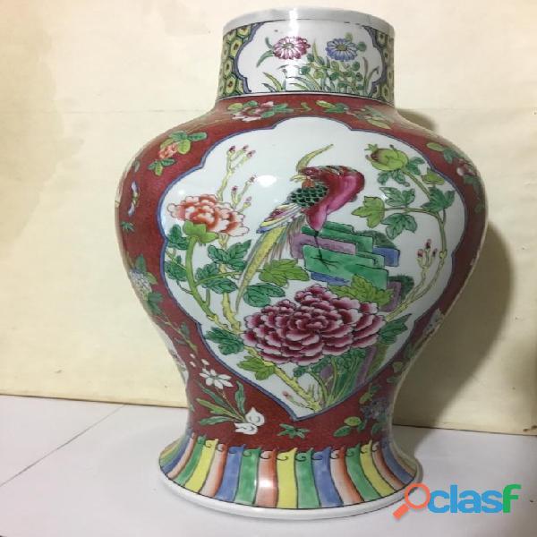 Vaso antico Canton H 48 cm Cina