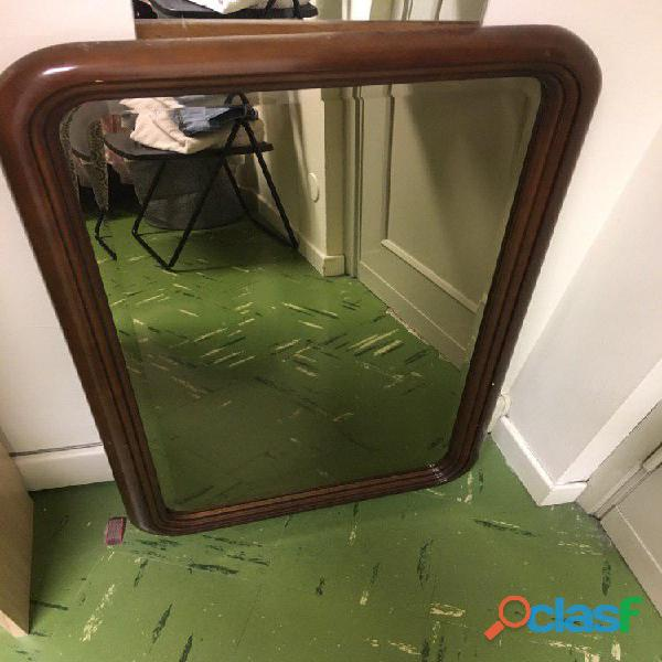 specchio in legno
