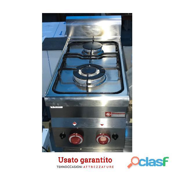 Cucina 2 fuochi a gas usata solo in fiera