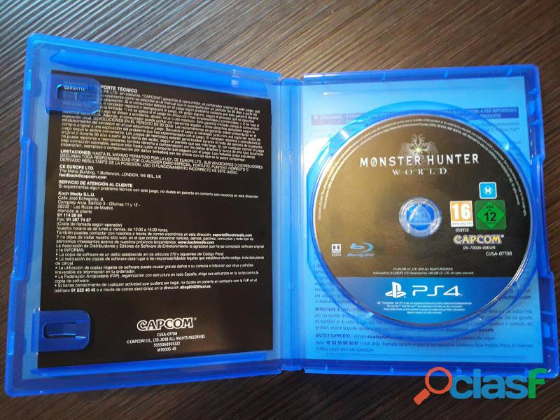 Gioco ps4  monster hunter world