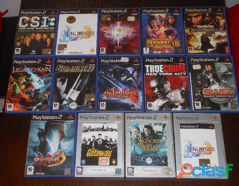 Playstation 2, n. 14 videogiochi.