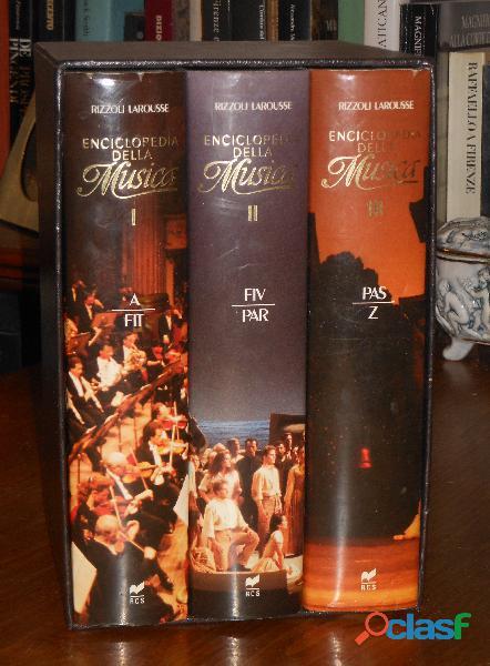 Enciclopedia della musica, marc vignal, rizzoli larousse (3 volumi), 1990.