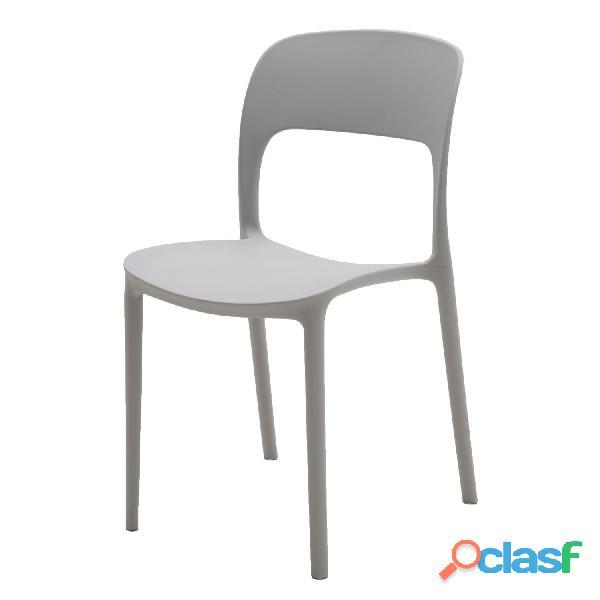 Sedia in plastica moderna grigia art lf633 consegna gratis arredamentishop.it