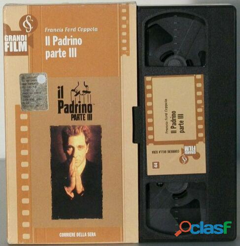 IL PADRINO PARTE III 3 film VHs Francis Ford Coppola Al Pacino, Diane Keaton
