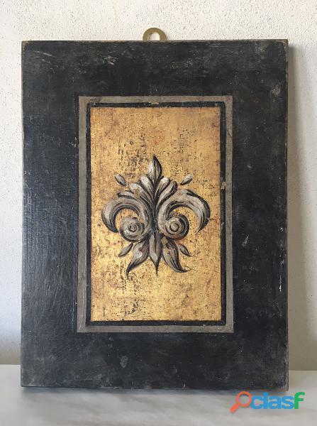 Quadro decorato a mano con giglio