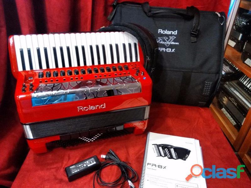 Fisarmonica digitale roland fr 8x rosso