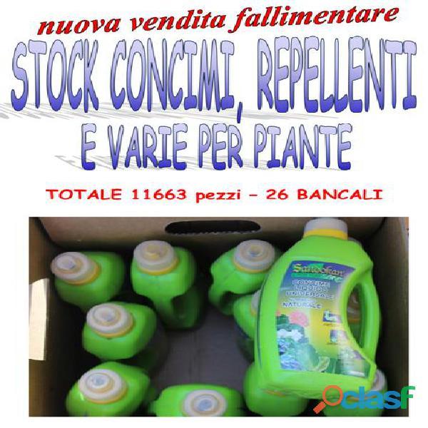 Stock concimi e repellenti 11663 pz