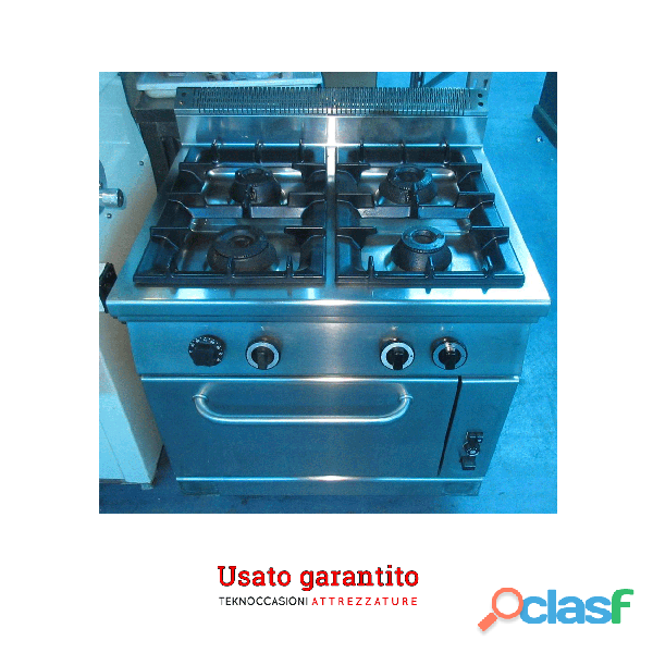 Cucina a gas sei fuochi usata con forno Zanussi