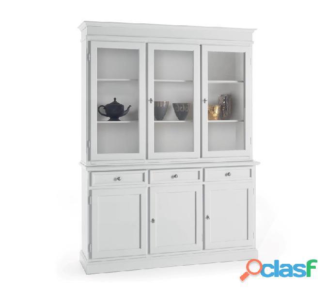 Vetrina bianca nuova art. 6037a 6036a consegna gratuita arredamentishop.it