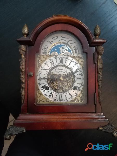 Vintage orologio da tavolo fasi lunari bazuin & zn rotterdam