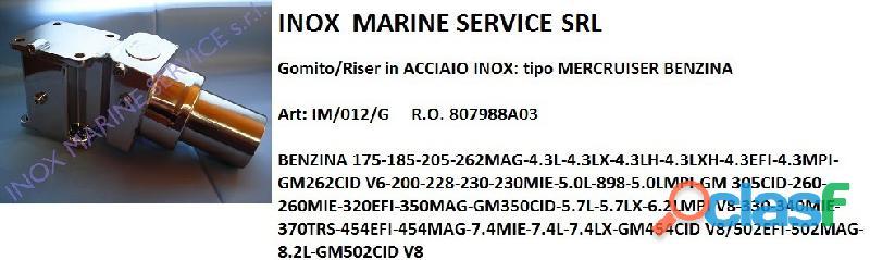 Gomito/riser in acciaio inox compatibile: mercruiser benzina