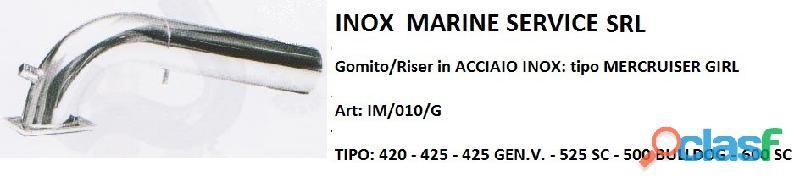 Gomito/riser in acciaio inox compatibile: mercruiser girl