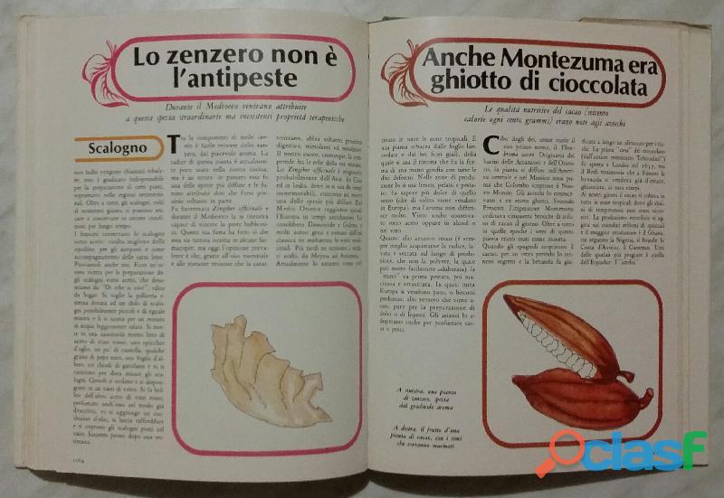 Cucinare con le erbe; Editore: Coged/Rizzoli, 1°Edizione, Settembre 1979 Opera in 3 volumi 3