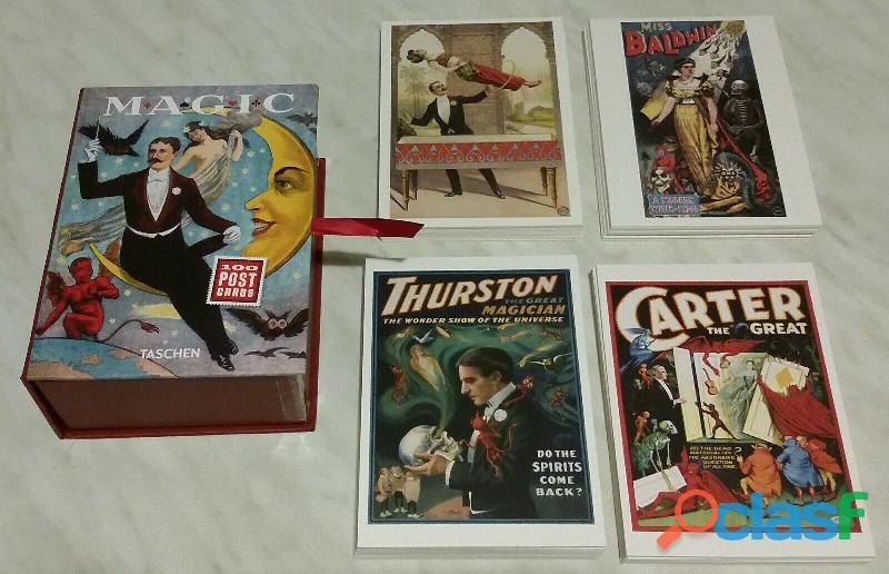 100 cartoline di famosi maghi dal 1400 al 1950 ed.taschen 2014 nuovo con scatola