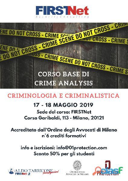 Corso teorico pratico crime analysis   6 crediti per avvocati