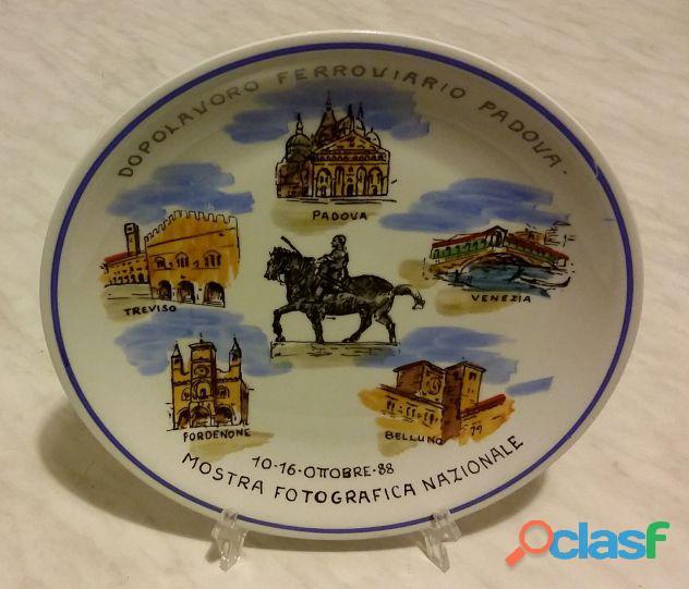Piatto in ceramica tognana mostra fotografica nazionale 10 16 ottobre '88 come nuovo