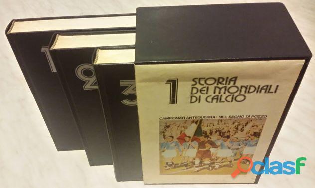 Storia dei mondiali di calcio. campionati anteguerra cofanetto 3 volumi ed.fortuna, 1974 perfetto