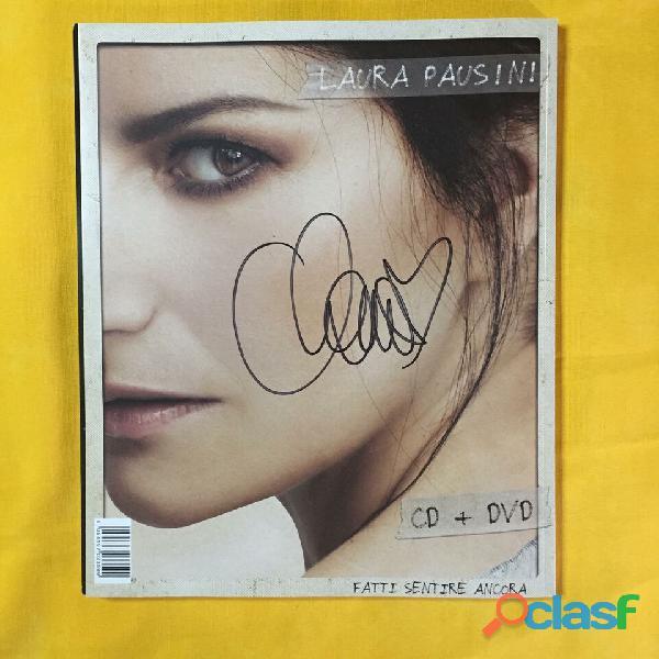 Laura pausini   fatti sentire ancora magazine edt (cd + dvd + libro) autografato