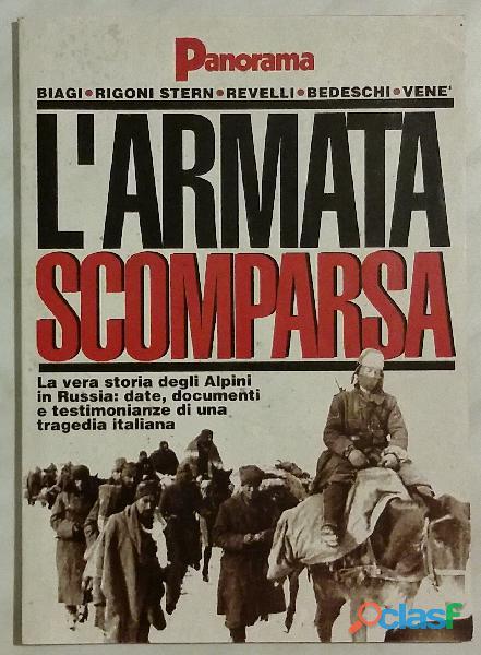 L'armata scomparsa 1942 1992. La vera storia degli Alpini in Russia di Biagi, Rigoni Stern, Revelli