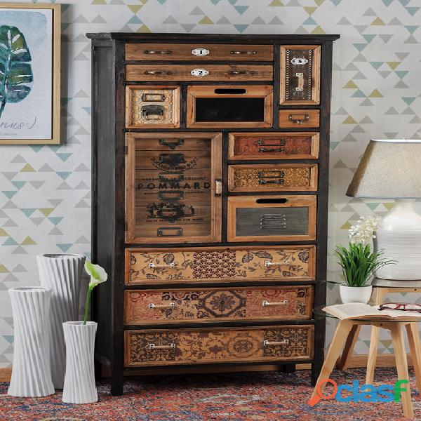 Cassettiera arredo industrial nuova art.49345 consegna gratis arredamentishop.it