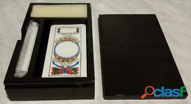 Carte trevisane plastica dal negro in astuccio rigido nero nuovo con cellophane