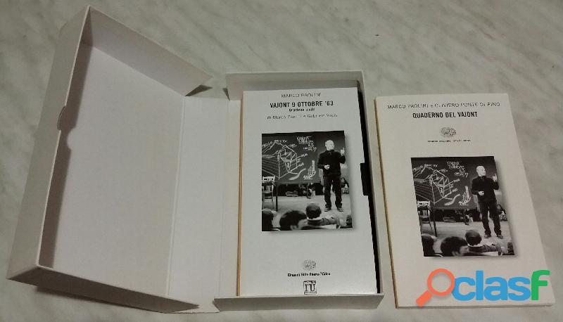Vajont 9 ottobre '63. con videocassetta di marco paolini ed.einaudi 1999 nuovo