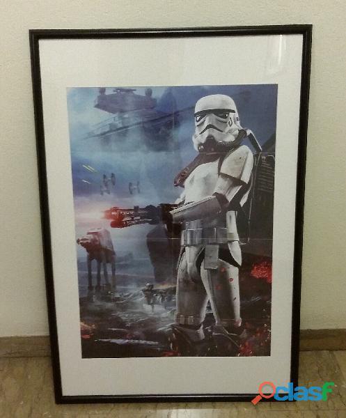 Star wars stormtrooper poster cm.50x70 con la cornice nera