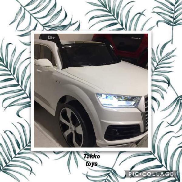 Auto macchina elettrica q7 s line bianco (pelle)