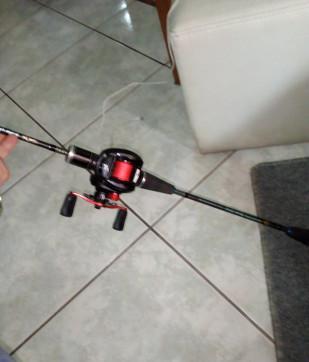 Canna da pesca slow pitc con mulinello