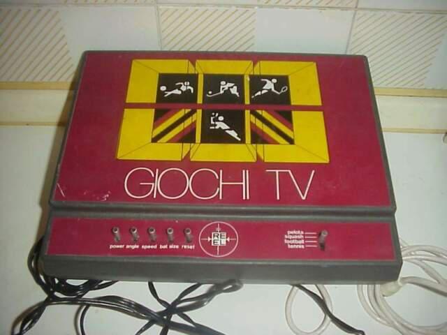 Giochi tv reel re el consolle vintage pong videogame